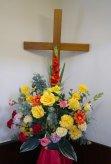 Cross & Flowers